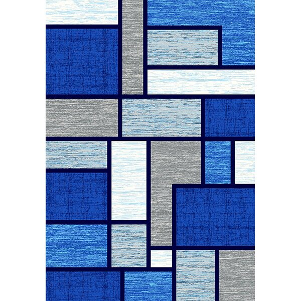 Mccampbell 3D Ocean/Navy/Blue Area Rug by Ivy Bronx