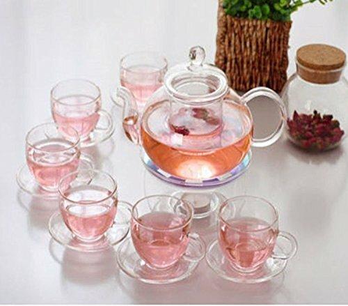 Gaudet 9 Piece Glass Tea Set by Winston Porter