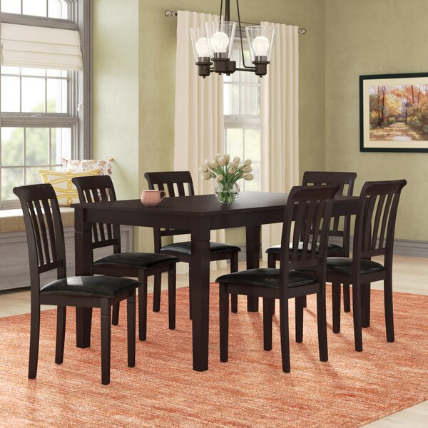 Winnetka 7 Piece Brown Wood Dining Set by Red Barrel Studio