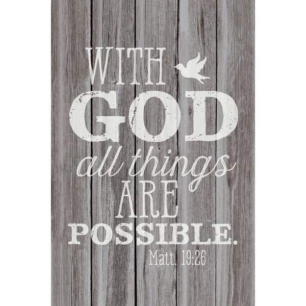 With God All Things… Textual Art Plaque by Dexsa