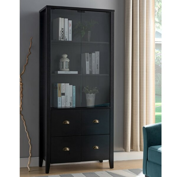 Pagoda Book with 4 Drawers Standard Bookcase by Darby Home Co