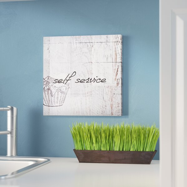 Home Decor Self Service Laundry Room Graphic Art Print On Wood by Laurel Foundry Modern Farmhouse
