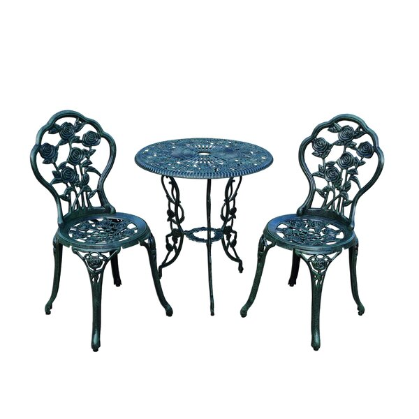 Louise Traditional 3 Piece Bistro Set