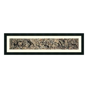'Number 10, 1949' by Jackson Pollock Framed Painting Print by Amanti Art