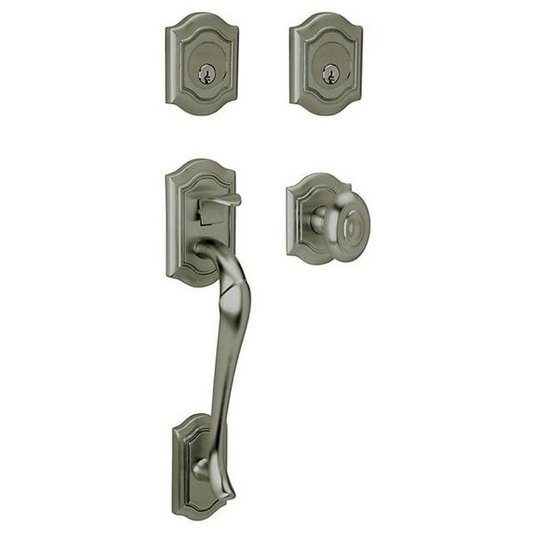 Bethpage Double Cylinder Handleset with Interior Knob and Sectional Trim by Baldwin