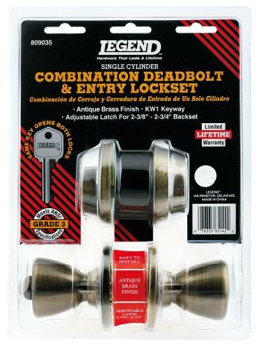 Single Cylinder Entrance Knobset by Legend Locksets