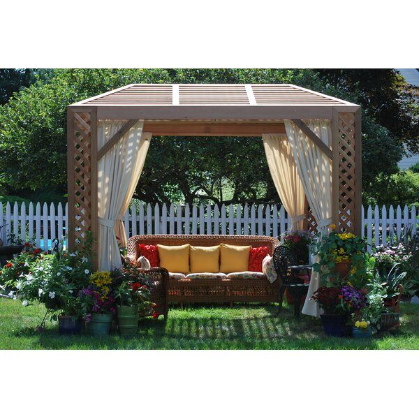 10 Ft. W x 8 Ft. D Solid Wood Patio Gazebo by Grown For You