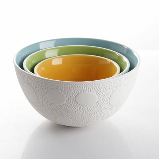 3 Piece Stoneware Nesting Bowl Set by Maia Ming Designs