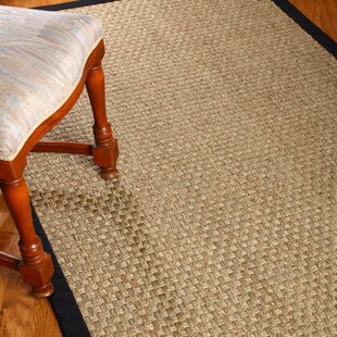 Alland Hand Woven Brown Area Rug by Highland Dunes