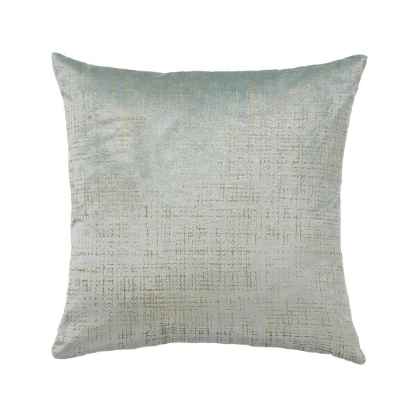 Etched Velvet Mist Throw Pillow by Mozaic Company