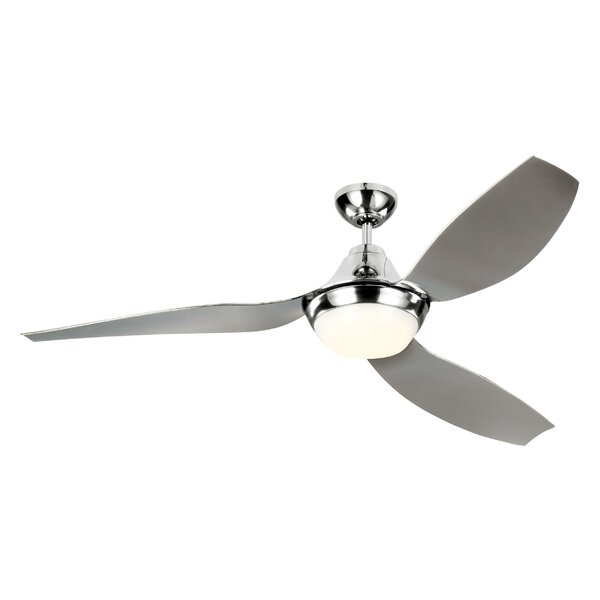 56 Zarate 3 Blade LED Ceiling Fan with Remote by Latitude Run