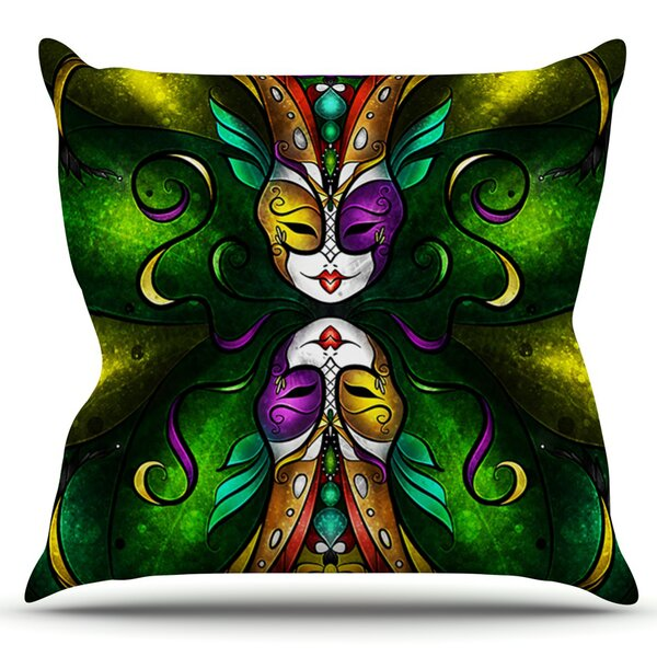 Topsy Turvy by Mandie Manzano Outdoor Throw Pillow by East Urban Home