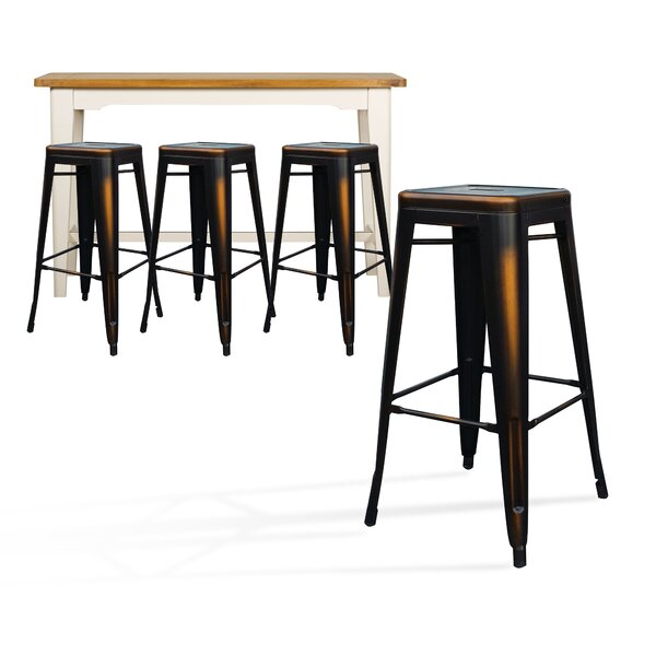 Mcabee Metal 29 Bar Stool (Set of 4) by Williston Forge