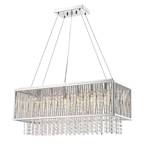 Monique 6-Light Unique / Statement Empire Chandelier with Crystal Accents Accents by House of Hampton House of Hampton
