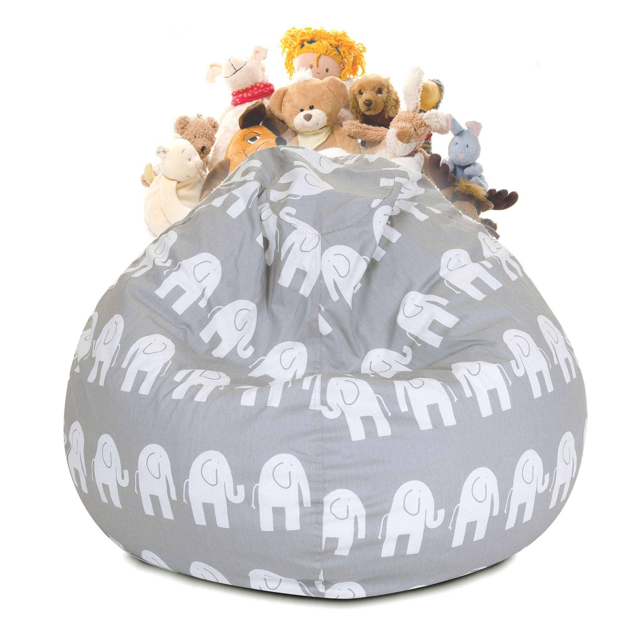 Mack Milo Delphi Stuffed Animal Toy Storage Bean Bag Chair Wayfair