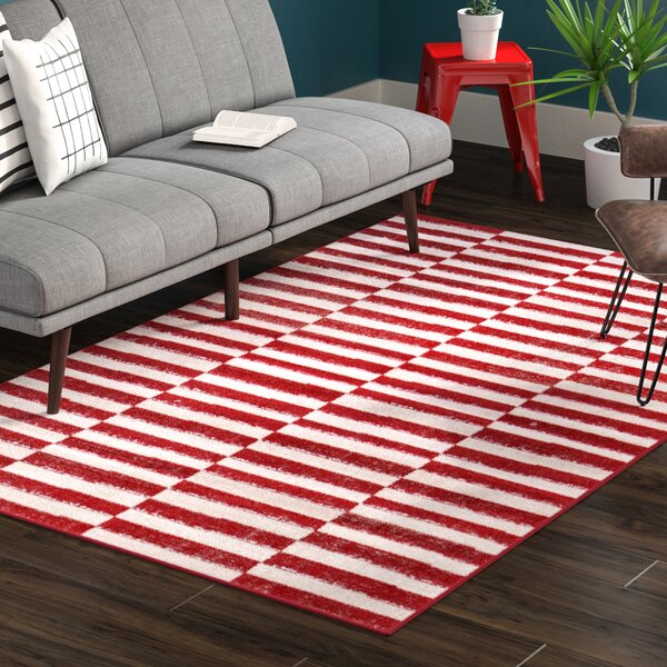 Mcgrail Red Area Rug by Mercury Row