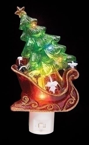 Sleight with Christmas Tree and Presents Decorative Christmas LED Night Light by Northlight Seasonal