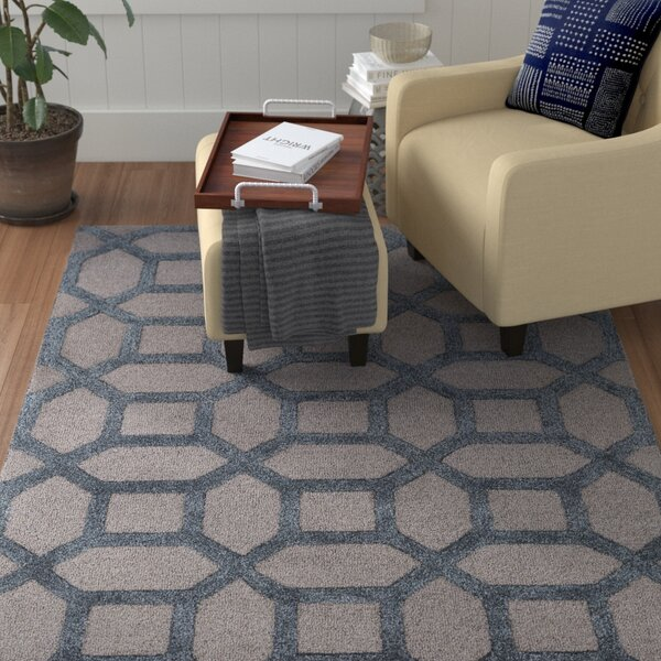 Wyble Hand-Tufted Blue Area Rug by Winston Porter