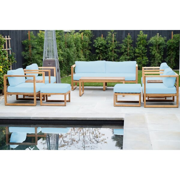 Mingus Venice 8 Piece Teak Sofa Seating Group by Foundry Select