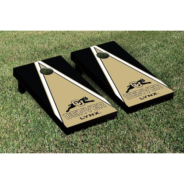 Colorado Denver Lynx Triangle Version Cornhole Game Set by Victory Tailgate