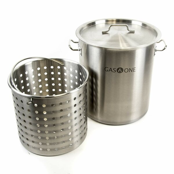 Stainless Steel 32 qt. Pot Set with Lid by Gas One