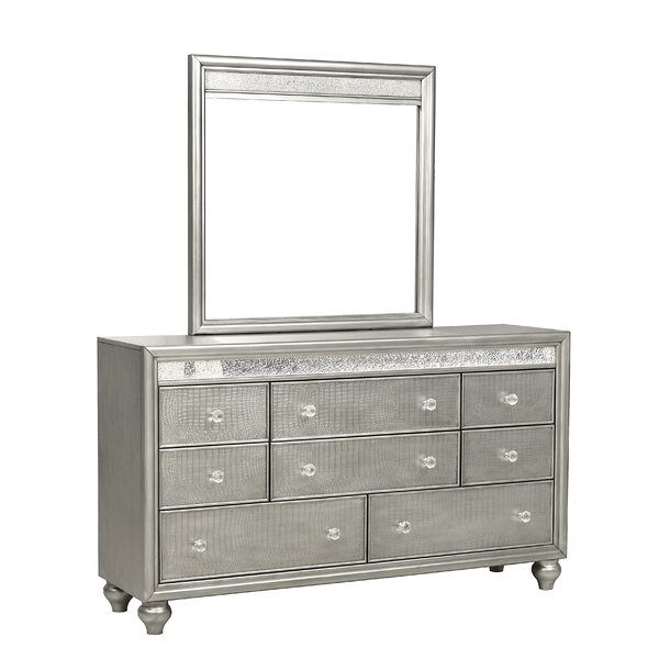 Haywards Mirror Trim 8 Drawer Double Dresser by Rosdorf Park