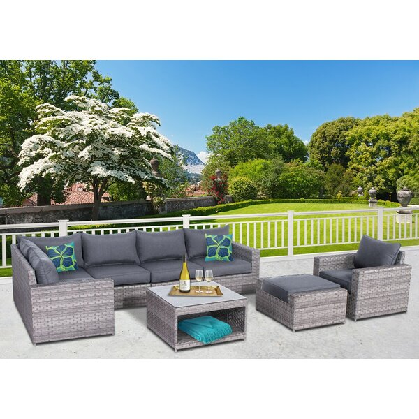 Kordell 8 Piece Sectional Seating Group with Cushions by Sol 72 Outdoor