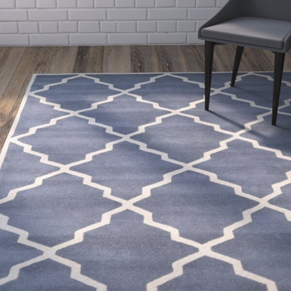 Wilkin Tufted Wool Gray/Ivory Area Rug by Wrought Studio
