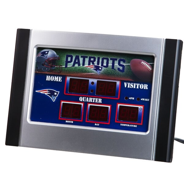 NFL Scoreboard Desk Clock by Team Sports America