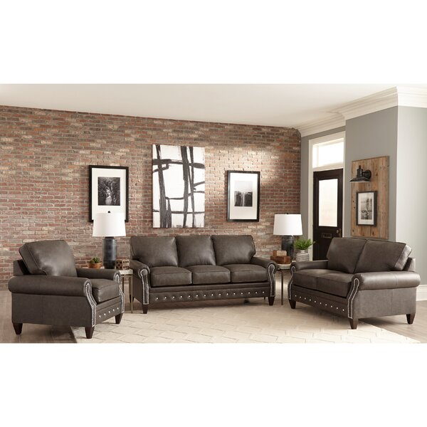 Jacey 3 Piece Leather Living Room Set by 17 Stories