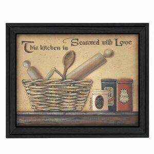 'Seasoned with Love' Framed Graphic Art Print by Trendy Decor 4U