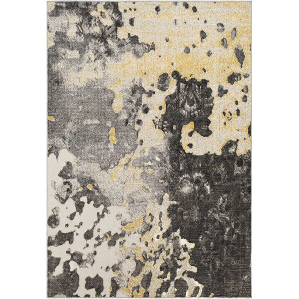 Ramm Abstract Charcoal/Gray Area Rug by Bungalow Rose