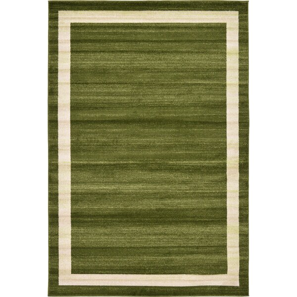 Christi Green/Beige Area Rug by Orren Ellis