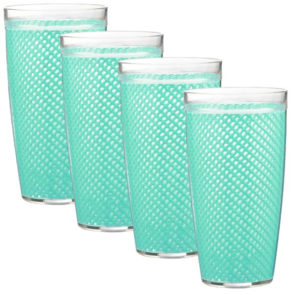 Adelyte 4 Piece 22 oz. Plastic Water Every Day Glass Set by Highland Dunes