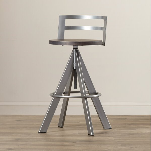 Louque Adjustable Height Bar Stool by Brayden Studio