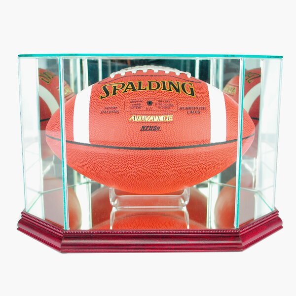Octagon Football Display Case by Perfect Cases