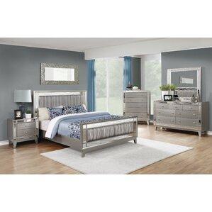 alessia panel bedroom set