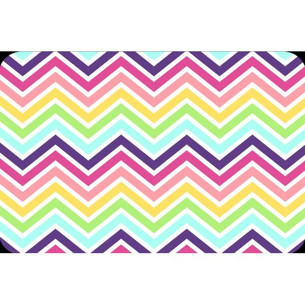 Rainbow Chevron Juvenile Vinyl Placemat (Set of 6) by Elrene Home Fashions