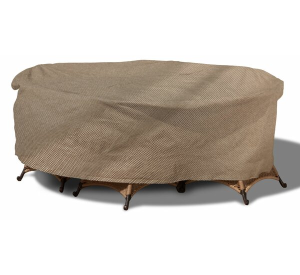 English Garden Round Patio Table and Chairs Combo Cover by Budge Industries