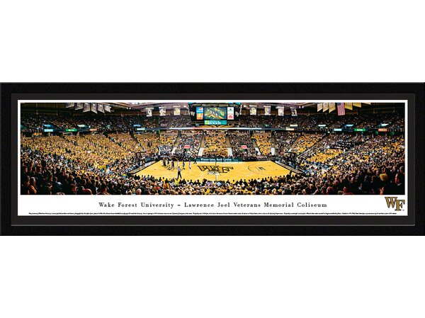 NCAA Wake Forest University - Basketball by Christopher Gjevre Framed Photographic Print by Blakeway Worldwide Panoramas, Inc