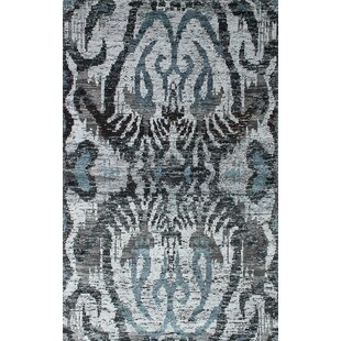 Read Reviews One-of-a-Kind Nicola Hand-Knotted Gray/Black Area Rug By Isabelline
