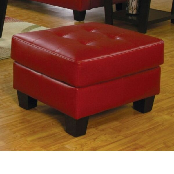 Priolo Lavish Leather Ottoman by Charlton Home
