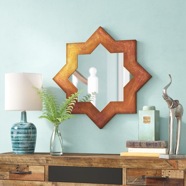 Bostwick Contemporary Sunburst Wall Mirror by Bungalow Rose