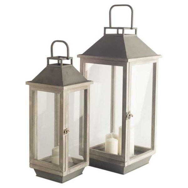 2 Piece Metal Lantern Set by Union Rustic