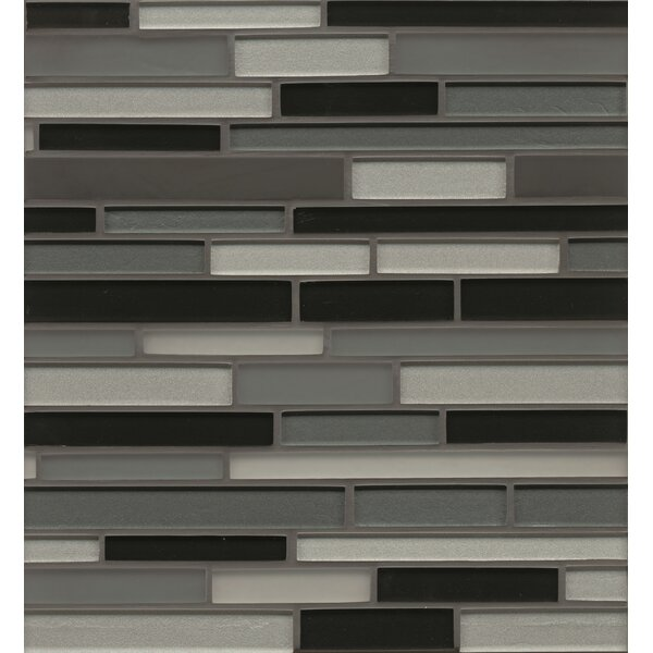 Remy Glass 12 x 13 Mosaic Random Interlocking Blends Tile in Evanston by Grayson Martin