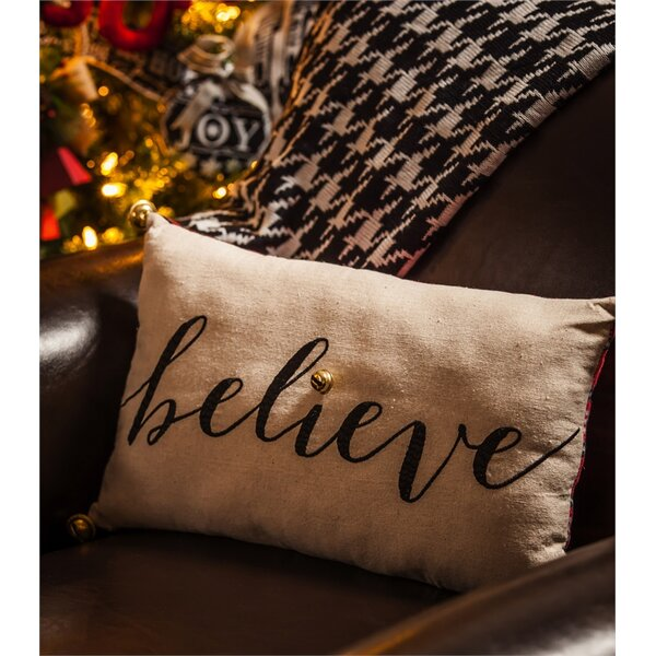Belcara Believe Lumbar Pillow by Charlton Home