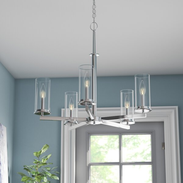 Chelsie 5-Light Shaded Classic / Traditional Chandelier By Zipcode Design