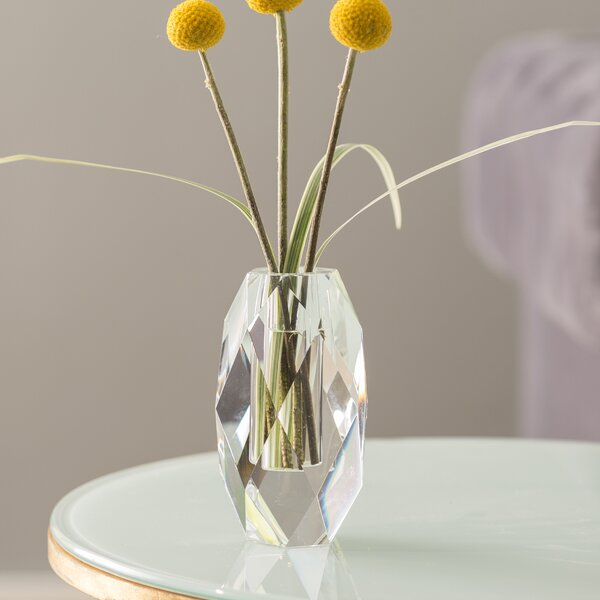 Facets Oval Table Vase by Rosdorf Park