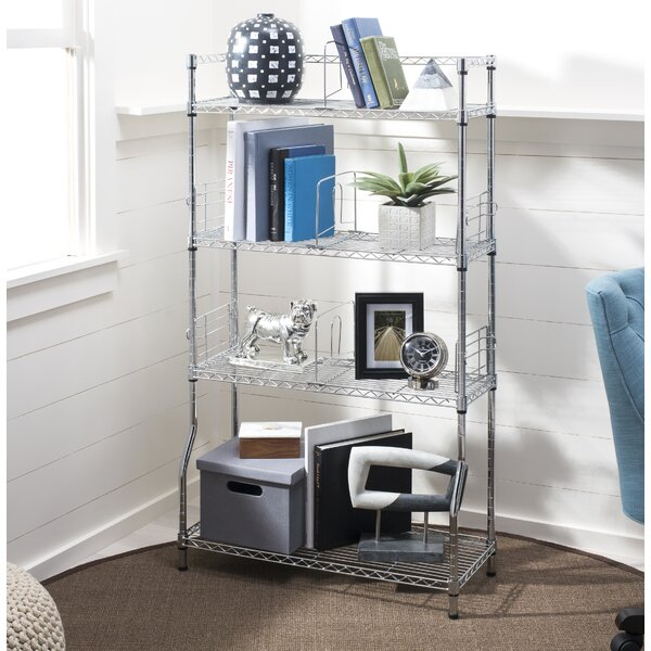 4-Tier Standard Bookcase by Rebrilliant