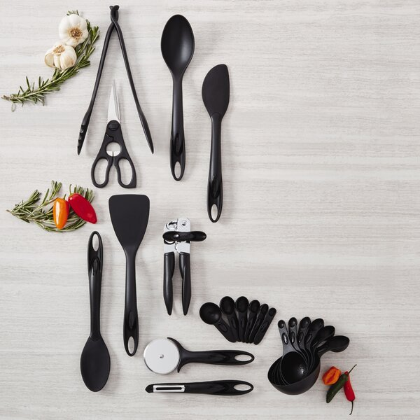 21-Piece Everyday Kitchen Tool and Gadget Utensil Set by Kizmos